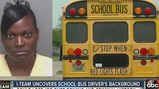 I-Team uncovers school bus driver's background - Video