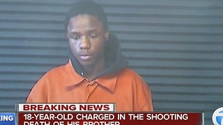 18-year-old charged in brother's shooting death - Video
