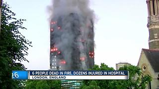 Fatal Grenfell apartment fire in London - Video