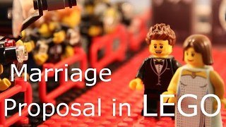 Man Creatively Proposes to Wife Using Lego Animation - Video