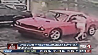 Man steals car with baby inside - Video