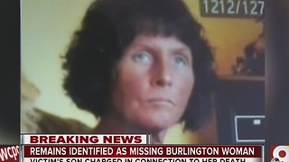 Remains identified as missing Burlington woman