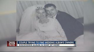 Couple finds wedding album from 1963 in roof, now hoping to get it back to the rightful owners - Video