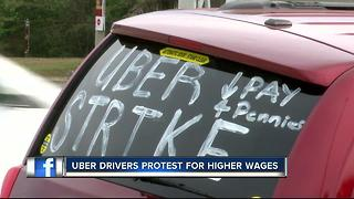 Tampa Uber drivers protest for higher rates, tipping option on app - Video