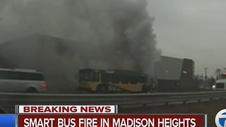 SMART bus fire in Madison Heights - Video