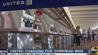 United Airlines now charging for carry-on bags - Video