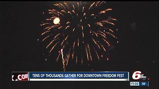 Thousands of people gather for downtown Freedom Fest - Video