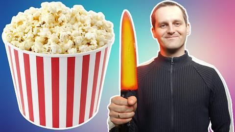 EXPERIMENT: GLOWING HOT KNIFE VS. POPCORN KERNELS | WILL THEY POP?