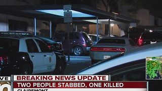 2 people stabbed in Clairemont - Video
