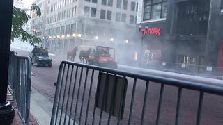 Fog and horses: What shut down Monument Circle Tuesday morning? - Video
