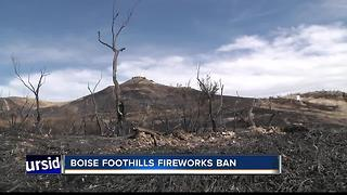 Boise Fire Alert: Fireworks ban in foothills - Video