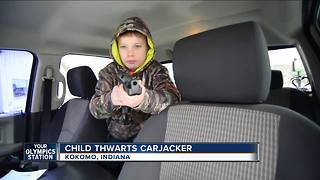 Boy Scares Off Carjacker by Pointing Pellet Gun - Video