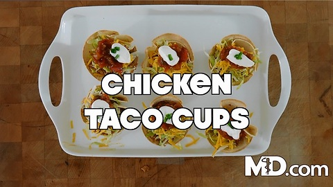 How to Make Chicken Taco Cups | MDelicious