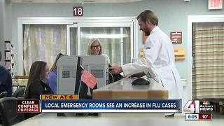 Local emergency rooms see an increase in flu cases - Video