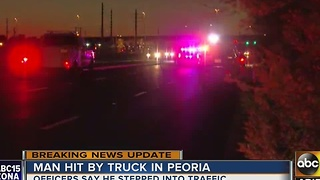 Man dies after being hit by car in Peoria - Video