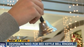 Salvation Army Red Kettle Bell-ringers desperately needed in Western New York - Video