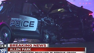 Dearborn Heights police involved in accident - Video