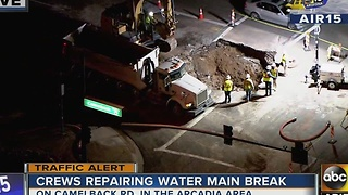 Traffic backed up in Biltmore community after water main break - Video
