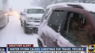 Winter storm shuts down roads across Grand Canyon State