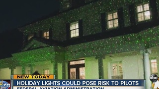 Holiday lights could pose risk to pilots - Video