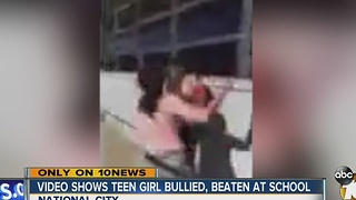 Video shows teen girl bullied, beaten at school - Video