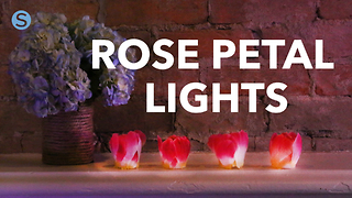 How to make flameless rose petal tea lights - Video