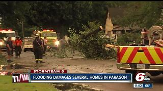 Flooding damages several homes in Paragon - Video