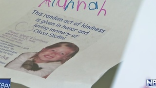 Community does random acts of kindness in memory of Olivia Stoffel - Video