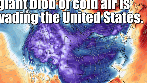 A cold blob is overtaking the United States