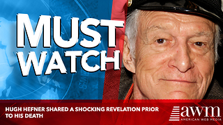 Hugh Hefner Shared A Shocking Revelation Prior To His Death - Video
