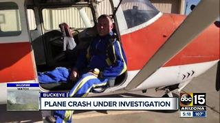 Plane crash under investigation as City of Buckeye mourns death - Video