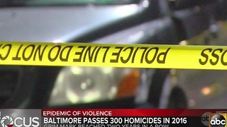 Baltimore surpasses 300 murders for 2nd year
