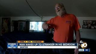 Man Finds Stranger in His Bedroom - Video