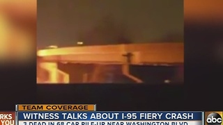 Witness to fiery I-95 crash speaks - Video