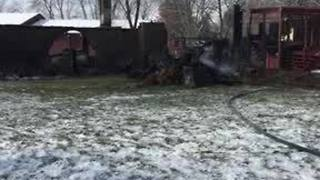 Franklin home destroyed by fire while couple is in Florida, police investigating possible burglary - Video
