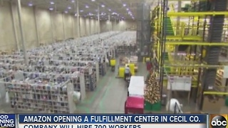 Amazon opening a fulfillment center in Cecil County - Video