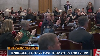 Tennessee Electors Unanimously Vote For Trump For President - Video