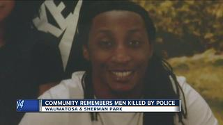 Community remembers man killed by police on one year anniversary - Video
