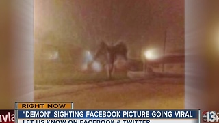 Facebook photo prompts debate: angel or demon?