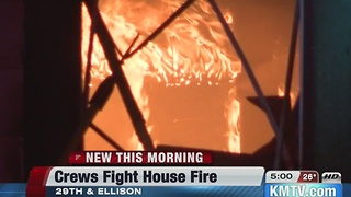 Vacant home burns overnight - Video