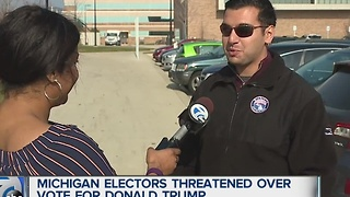 Michigan elector threatened online - Video