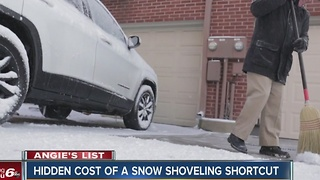 Angie's List: Hidden cost of a snow shoveling shortcut - Video