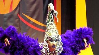 Drag Queen competition show, 1. part, African carnival 2017