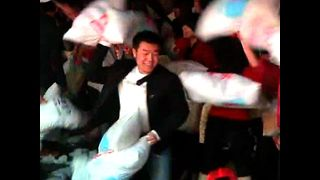 Massive Pillow Fight - Video