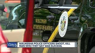 Waukesha man commits suicide by police - Video