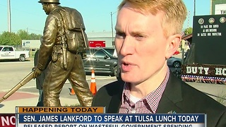 Sen. James Lankford will speak at Tulsa lunch today - Video