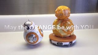 How to create your own BB-8 out of an orange - Video