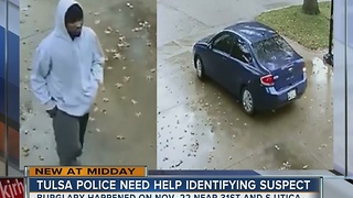 Tulsa Police search for burglary suspect - Video