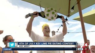 Texas man wins key lime pie-eating contest in Key West - Video