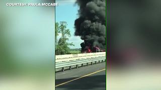 Tractor-trailer fire on I-75 | Courtesy: Paula McCabe - Video